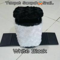 Tempat/tong sampah mobil hitam/putih/bulu snail