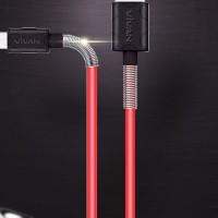 kabel data vivan FM100 kabel data spring 2,4A cable data usb