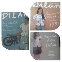 Paket 3 Novel Pidi Baiq. Dilan 1, Dilan 2, Milea. Harga untuk 3 Buku