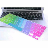 Rainbow Color Silicone Keyboard Cover Protector Skin for Macbook Air 1
