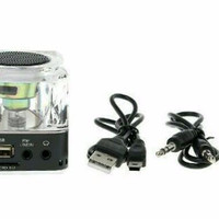 NIZHI TT028 MP3 PLAYER + SPEAKER + FM RADIO + CLOCK + LIGHTS | SKU 920