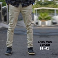 Celana Pria Chino CREAM BIG SIZE-CREAM-JUMBO-38-39-40-41-42
