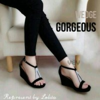Wedges V KS06 - Hitam Murah