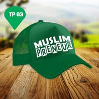 Topi | Muslim Preneur | Topi Costum | Topi Dakwah | Sablon Topi