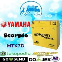 Aki motor Yamaha Scorpio Motobatt MTX7D Aki Kering