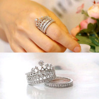 cincin imperial crown double | mahkota | lucu unik murah