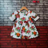 CN226. DRESS GYMBOREE WHITE LGN PJG KERUT FULL FLOWER NO.16072
