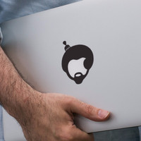Ready Decal Macbook Sticker - Afro Hair Recommended