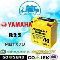 Aki motor Yamaha R25 motobatt MBTX7U Aki Kering / Aki Gel