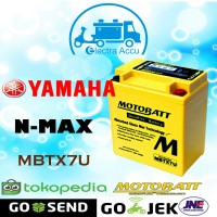 Aki motor Yamaha Nmax motobatt MBTX7U Aki Kering