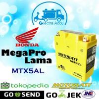 Aki motor Honda Megapro Lama Motobatt MTX5AL Aki Kering