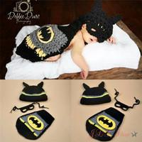 Kostum rajut foto bayi #Batman set