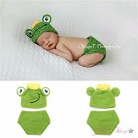 Kostum rajut foto bayi #Frog prince
