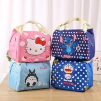Insulated Lunch bags Disney Cooler bag motif kartun tas bekal makan