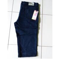 Celana Jeans Pendek 7/8 Strit Cewek/Wanita Big Size