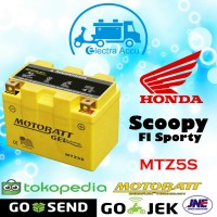 Aki motor Honda Scoopy Fi Sporty Motobatt MTZ5S aki kering / gel