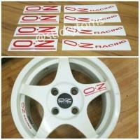 paket stiker velg mobil OZ Racing Chrono