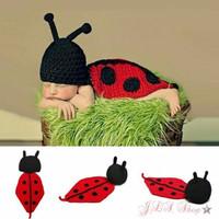 Kostum rajut foto bayi ladybug / Baby knit photo costume