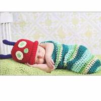 Kostum rajut foto bayi kepompong