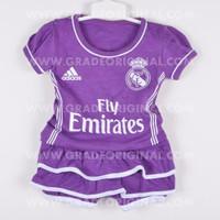 Baju Bola Setelan Baby Jersey Anak Bayi Cewek Real Madrid Away 2016 20