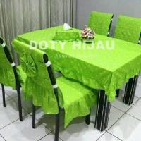 sarung kursi makan/alas duduk/set taplak meja makan