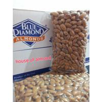 Roasted Almond Premium (Panggang) kacang almond blue diamond 500gram