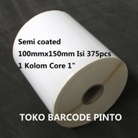"100X150mm 1Line 375 pcs Core1 ""gap2mm,Semicoated Label Barcode Sticker"