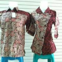 Baju Batik Couple Sarimbit Atasan Pasangan Cewek Cowok Hem Kemeja