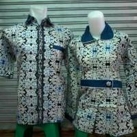 Baju Batik Couple Sarimbit Pasangan Kemeja Batik Cewek Cowok