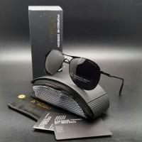 Kacamata Porsche Design SM 8722 Polarized Sunglass Pria Full Hitam