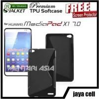 Softcase for HUAWEI Mediapad X1 : S-JACKET Premium TPU (+FREE SP)