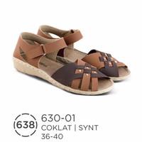 Special sepatu sandal wanita / flat sandal kulit asli Harga GROSIR