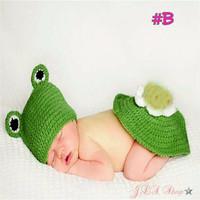 Kostum rajut foto bayi #Frog