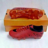 Sepatu Bola Anak Nike Hypervenom Red Black
