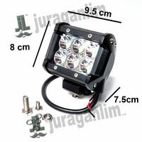 DISKON Lampu Tembak MOTO - LED Spot DRL PURE CREE XB-D [6x3W] Mobil &