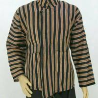 Baju Surjan Setelan Dewasa / Jumbo / Lurik / Batik Adat Jawa