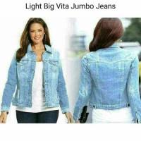 jaket jeans wanita jumbo besar xl xxl bigsize jacket outer jins jeans