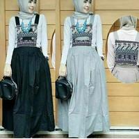 d.r Baju Muslim / Maxi Dress Murah / Overall Wanita / Nasya Overall