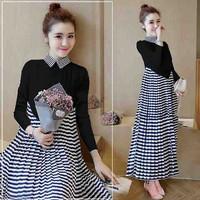 d.r Dress Murah / Dress Terbaru / Long Michi Black