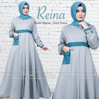 d.r Dress Murah / Dress Muslim / Maxi Dress / Reina Dress Grey