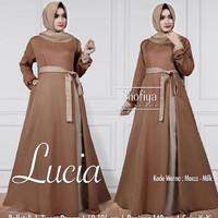 d.r Dress Murah / Dress Muslim / Maxi Dress / Lucia Dress Mocca