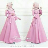 d.r Dress Murah / Dress Muslim / Maxi Dress / Tiara Dress Pink