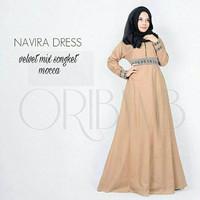 d.r Dress Murah / Dress Muslim / Maxi Dress / Navira Dress Moccaa