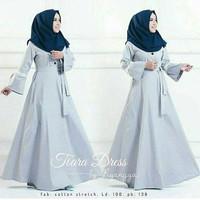 d.r Dress Murah / Dress Muslim / Maxi Dress / Tiara Dress Grey