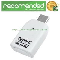 OTG USB 3.1 Type C to Micro SD Card Reader Slot - White