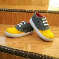 Sepatu Anak Laki-Laki Murah Trendy Casual Stylist Abu Kuning