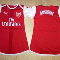 Baju Bola Anak Cewek / Baby dress bola Arsenal Home 16/17