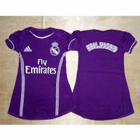 Madrid Away - Dress Baju Bola Bayi Jersey Anak Perempuan