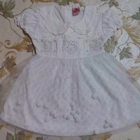 Dress bayi / baju bayi / dress putih hellokitty tutu