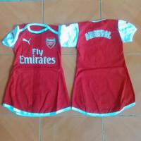 Baby Dress / Baju Bola Bayi Anak Cewek Arsenal Home 16/17